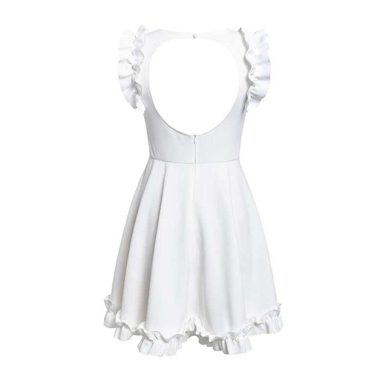 Ruffle Backless Party Mini Dress