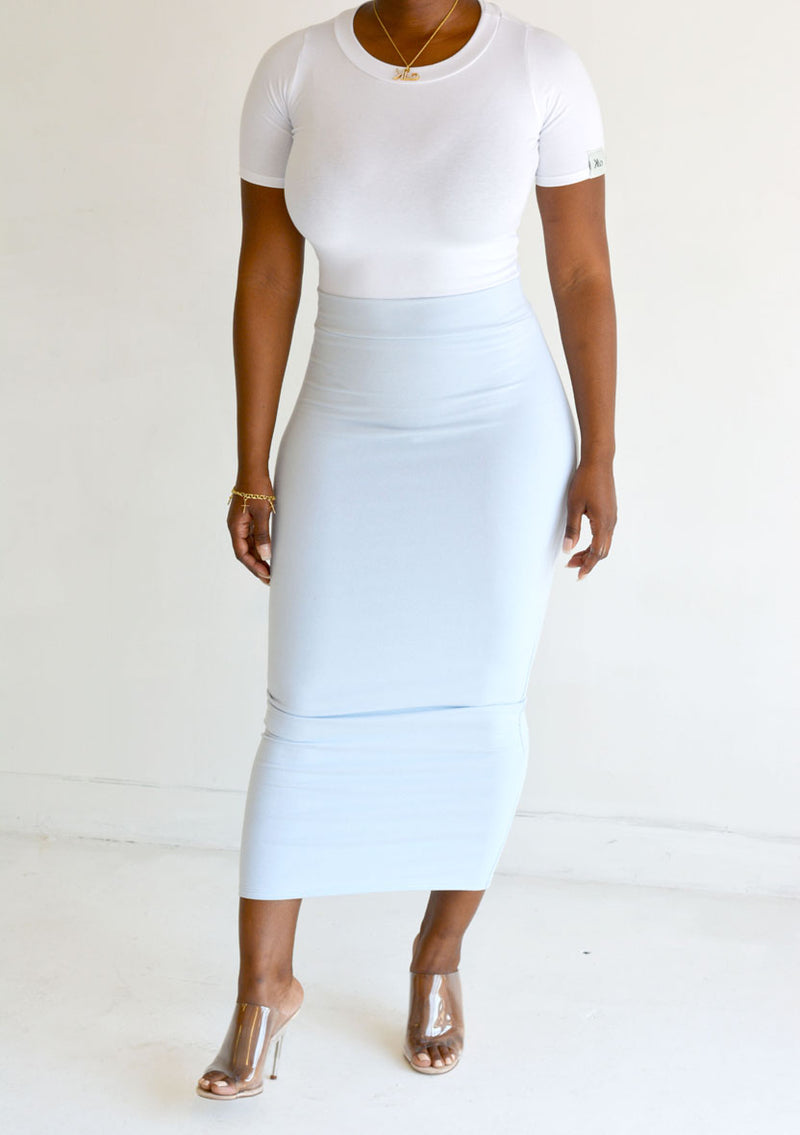 Grace maxi skirt (Baby Blue)