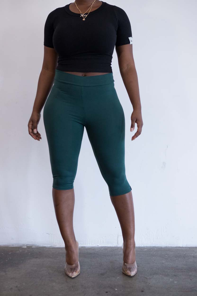 Ella cropped leggings (Forest)