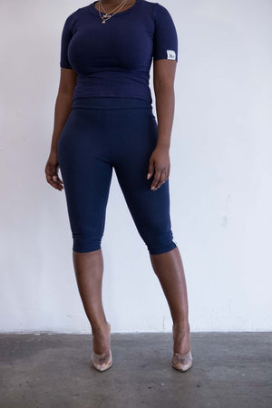 Ella cropped leggings (Navy)
