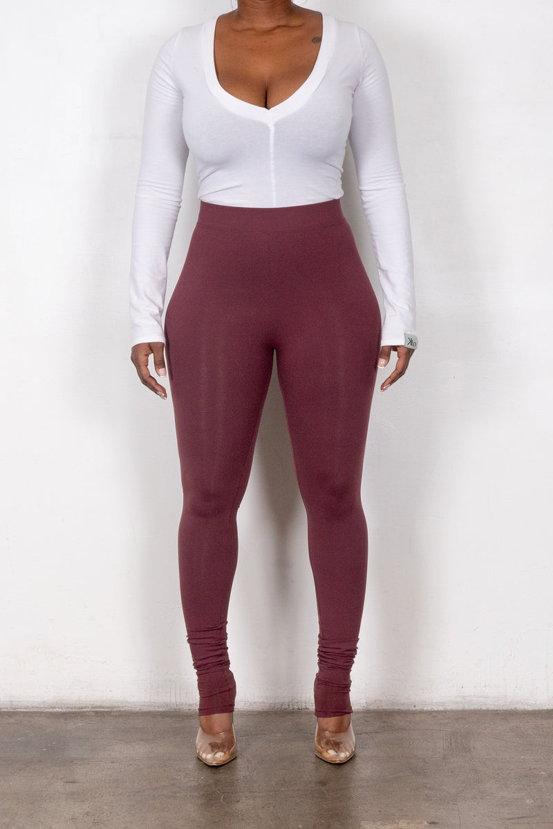 Thea Leggings (Maroon)