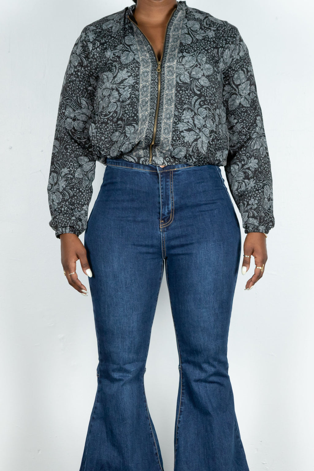 Bonnie Jacket (Black Floral)