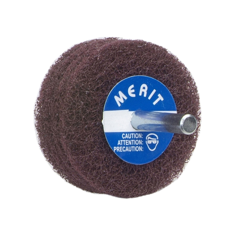 Non-woven Wheels Merit 31564 Disc Wheels With 1/4 Steel Shaft Aluminum Oxide 4 Ply Medium 4X1X1/4
