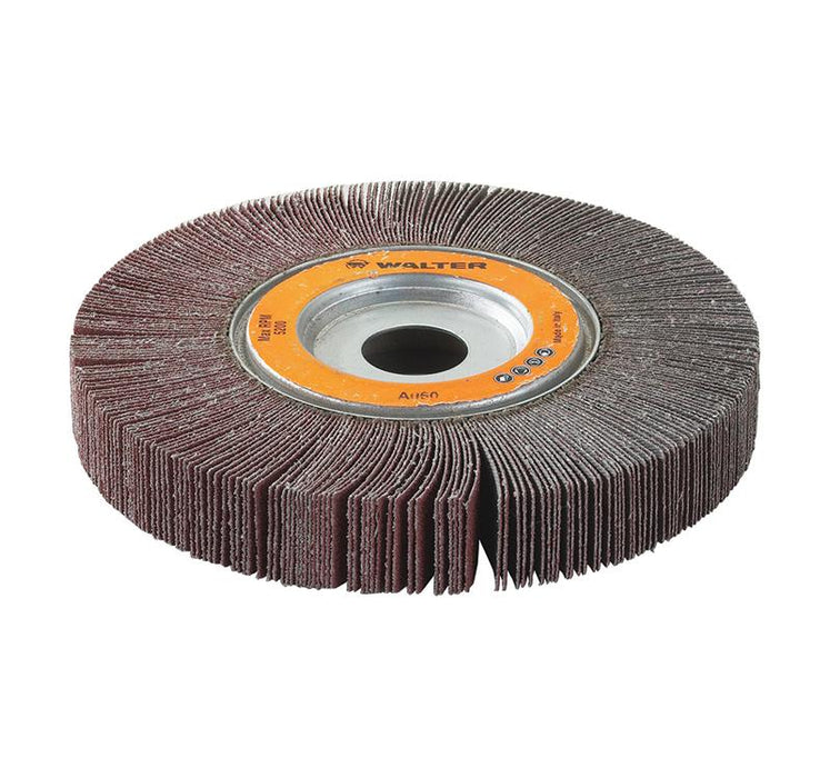 Centre Hole Mount Walter 15G206 6-1/2 Inch x 2 Inch x 1 Inch 60 Grit Aluminum Oxide Centre Hole Mounted Flap Wheel
