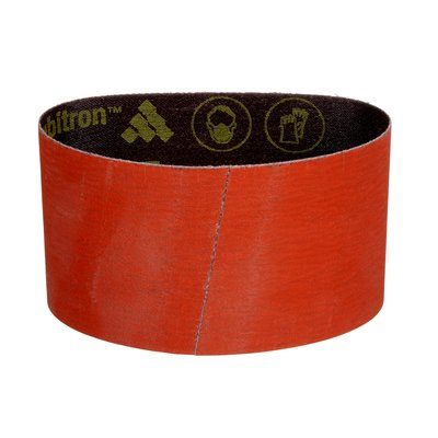 Pump Sleeves 3M AB84307 3-1/2 Inch x 15-1/2 Inch Sanding Belts 777F Cubitron Cloth Y Flex Closed Ceramic Wet / Dry Orange 120 Grit