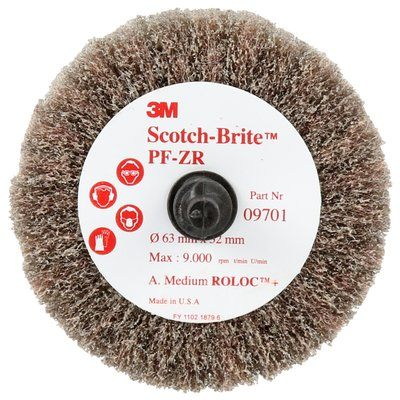 Non-woven Wheels 3M SB09701 Roloc Cut & Polish Flap Brush A Medium Cpfb R+ 2 1/2 in x 1 1/4 in