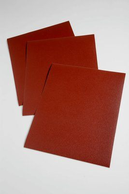 AB19771 9 x 11 Utility 100 Grit Aluminum Oxide 314D Closed Coat Cloth Sanding Sheets J-Weight