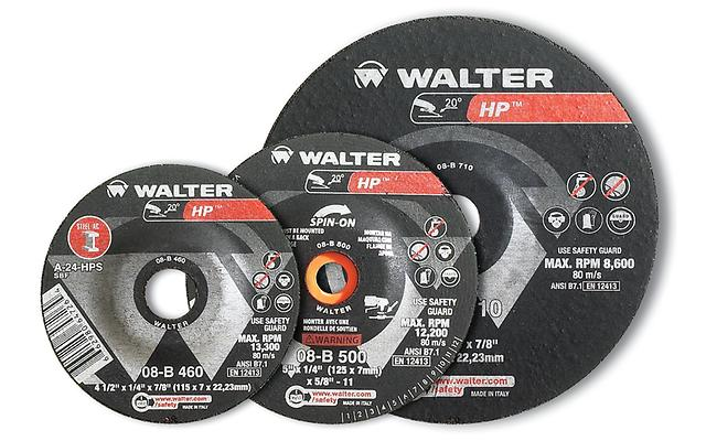 Depressed Center Saucer Wheels Walter 08B451 4-1/2X1/4 Type 28 Spin-On