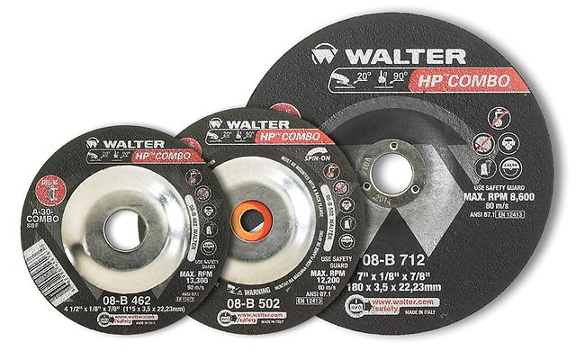 Depressed Centre Walter 08-B 602 Depressed Centre Cutting & Grinding Combo Wheels A-30 6X1/8X7/8