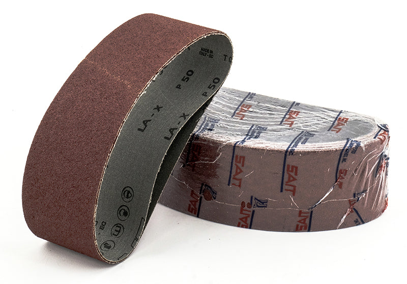 Portable Belts Sait 55365 4 Inch X 24 Inch -Saver Belt 80 Grit La-X Aluminum Oxide X Heavy Cotton Backing