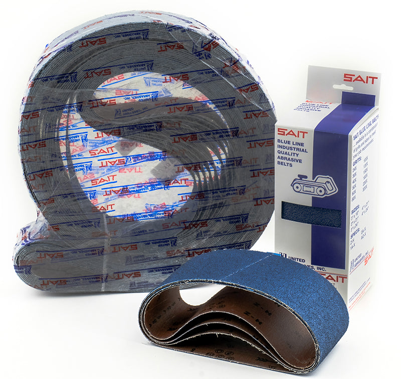 Portable Belts Sait 58115 3 Inch X 21 Inch Blue Line Belt 60 Grit Zh Zirconia Alumina Y Polyester Backing