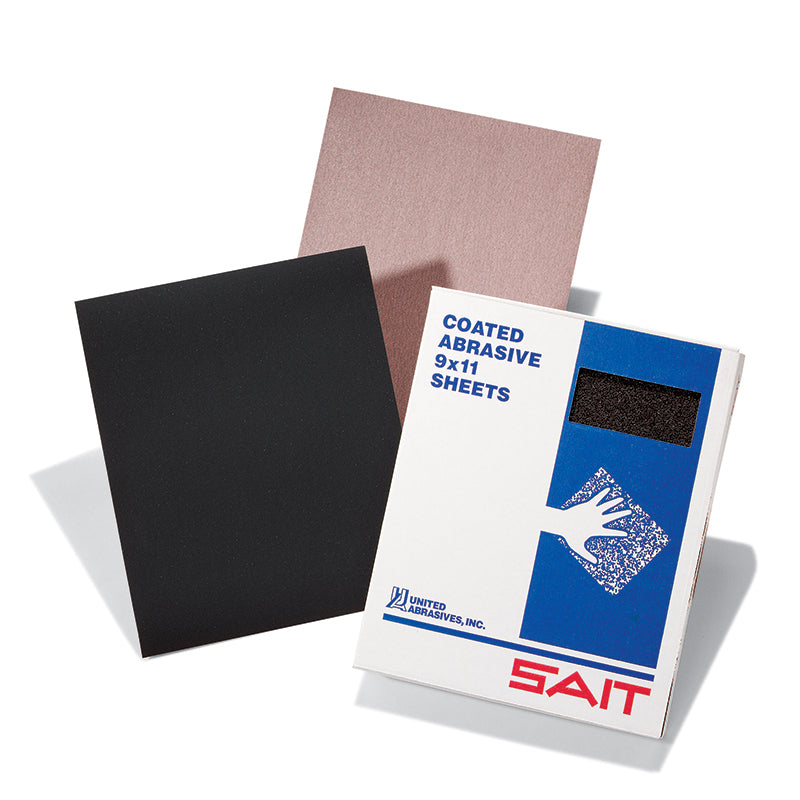 Stearated Sanding Sheets Sait 84231 9 Inch X 11 Inch Ultimate Performance 100 Grit Aluminum Oxide 3S Stearated Paper Sanding Sheets