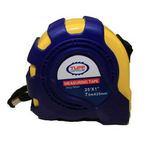 Tape Measures Tuff Grade TGTM-008 25' X 1 Inch Imperial & Metric Tape Measure With Magnetic Tip