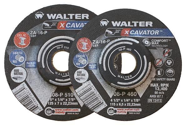 Grinding, Pipeline &Flexible Wheels Walter 08P500 5X1/4 Spin-On Xcavator