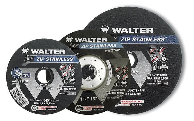 Type 27 Depressed Centre Walter 11F162 6X3/64 Zip Stainless Type 27