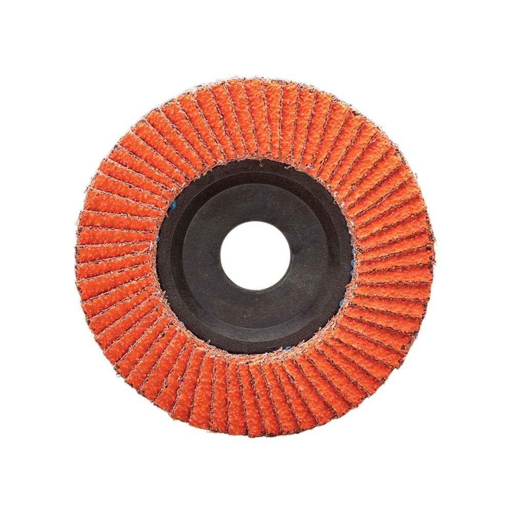 Depressed Centre Dynabrade 77765 4-1/2 Inch X 7/8 Inch Type 27 120 Grit Dynacut Ceramic Alumina Flap Disc