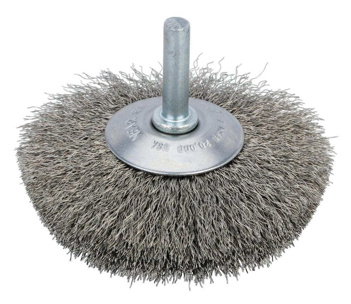 Crimped Wire Wheel Radial Brush Dynabrade 78862 Steel Crimped Wire Radial Wheel Brush (2-1/2 Inch x .008 x 9/16 Inch)