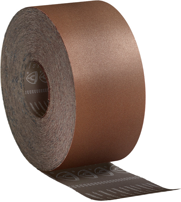 Regular sanding roll Klingspor 235570 Cloth sanding roll 4 Inch x 50m 100 grit CS311Y Aluminum Oxide Y-weight polyester backing