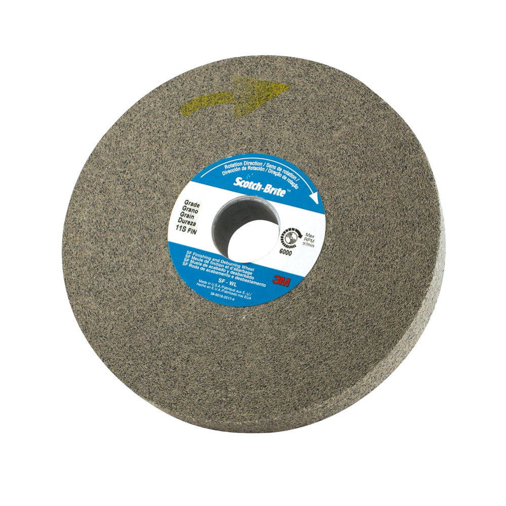 Non-woven Wheels 3M SB03993 Scotch-Brite Light Deburring Wheel 6 in x 1/2 in x 1 in 6 Fine