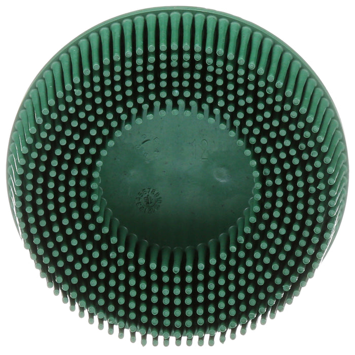 Bristle Discs 3M SB07526 Scotch-Brite Roloc Bristle Disc 07526 3 in x 5/8 Tapered Coarse 10 Brushes Per Box 4 Box