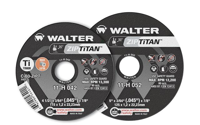 Type 01 Straight Wheels Walter 11H072 7X1/16 Zip Titan Wheels