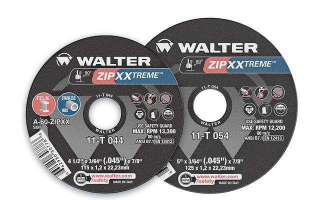 Type 01 Straight Wheels Walter 11T044 4-1/2X3/64 Zip Xxtreme Wheels