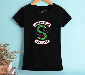 T-Shirt Femme - South Side Serpents - The TV Guy Shop Cosplay déguisement t shirt accessoire riverdale stranger things teen wolf la casa de papel american horror story