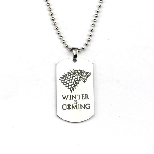 Collier - Winter is Coming - The TV Guy Shop Cosplay déguisement t shirt accessoire riverdale stranger things teen wolf la casa de papel american horror story
