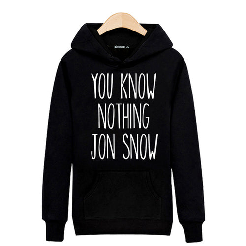Sweat Homme - You know nothing Jon Snow ! - The TV Guy Shop Cosplay déguisement t shirt accessoire riverdale stranger things teen wolf la casa de papel american horror story