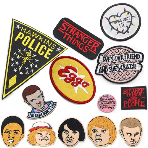 Pack patch Stranger Things - The TV Guy Shop Cosplay déguisement t shirt accessoire riverdale stranger things teen wolf la casa de papel american horror story