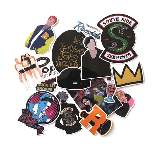 Lot de 15 STICKERS Riverdale - The TV Guy Shop Cosplay déguisement t shirt accessoire riverdale stranger things teen wolf la casa de papel american horror story