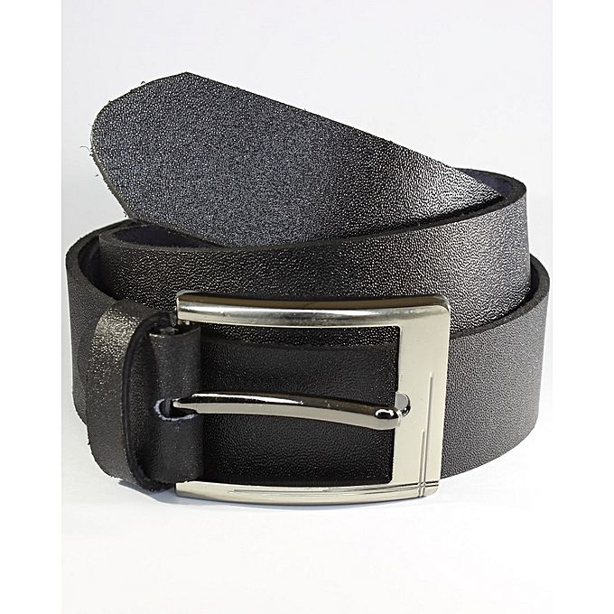 Leatherage Raven Black Leather Belt for Men