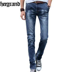 HEE GRAND 2017 Fashion Men Jeans New Arrival Design Slim Fit Fashion Jean For Man Good Quality Classic Blue Male Pants MKN848