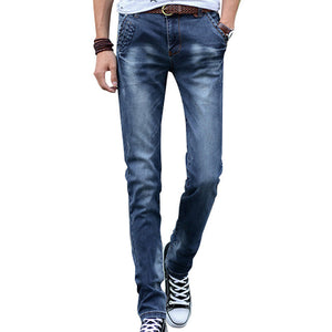 Open image in slideshow, HEE GRAND 2017 Fashion Men Jeans New Arrival Design Slim Fit Fashion Jean For Man Good Quality Classic Blue Male Pants MKN848