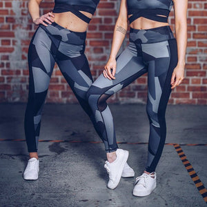 Open image in slideshow, Women Leggings Camouflage Fitness Skinny Gym Sports Exercise Yoga Long Pants