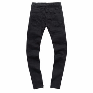 Open image in slideshow, Mens Ripped Slim Fit Motorcycle Vintage Denim Jeans Hiphop Streetwear Pants