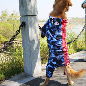 Big Dog Bathing Pup Camo Shark Jump Suit - Supreme Paw Supply