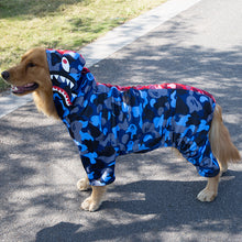 Load image into Gallery viewer, Big Dog Bathing Pup Camo Shark Jump Suit - Supreme Paw Supply