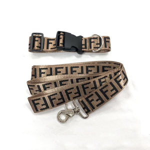 Fur Baby Coffee Collar and Leash Set - Supreme Paw Supply