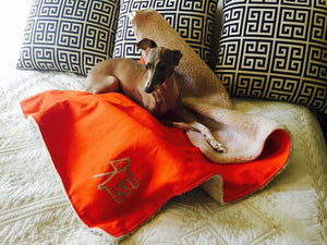 Canvas Fleece Dog Blanket - Supreme Paw Supply