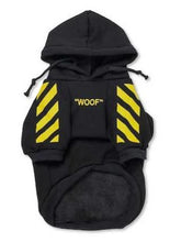 "Load image into Gallery viewer, Woof-White ""Woof"" Dog Hoodie - Yellow - Supreme Paw Supply"
