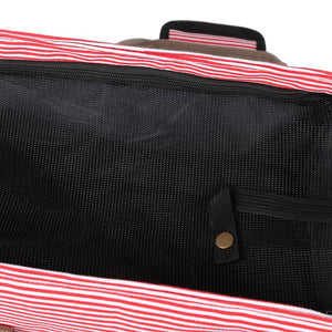 Striped Canvas Dog Carrier - Supreme Paw Supply