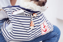 Load image into Gallery viewer, St. James Nautical Dog Sling - Supreme Paw Supply