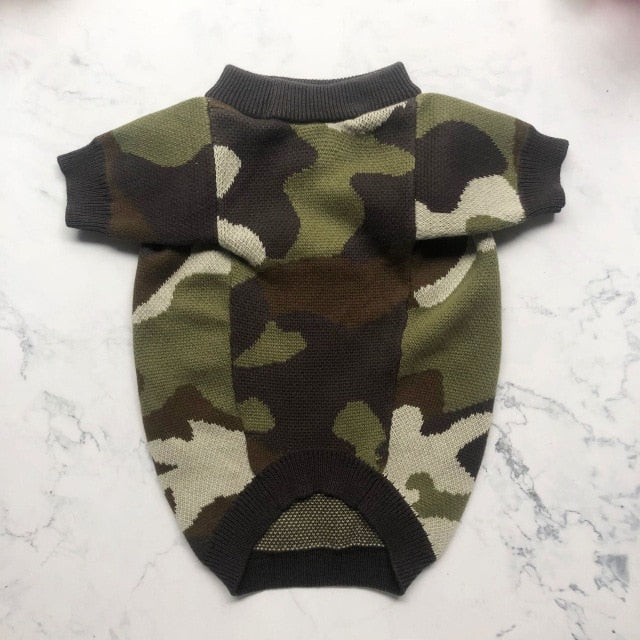 Barking Pup Camo Dog Sweater - Supreme Paw Supply