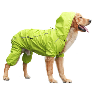 Rain Rebel Dog Coat - Green - Supreme Paw Supply
