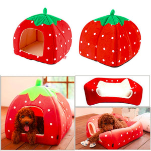 Strawberry Dog Bed - Supreme Paw Supply