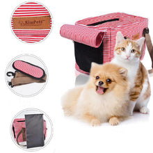 Load image into Gallery viewer, Striped Canvas Dog Carrier - Supreme Paw Supply