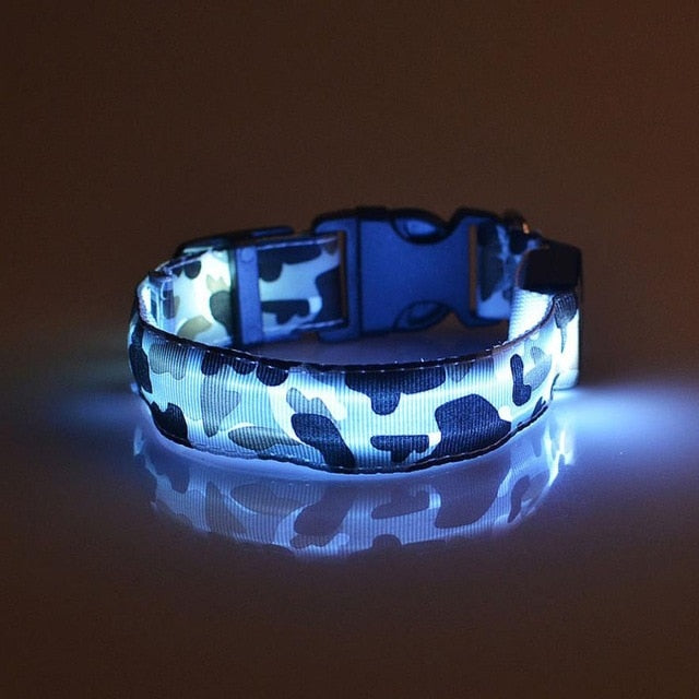 Camouflage LED Dog Safety Collar - Supreme Paw Supply