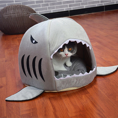 Pup Shark Cave Dog Bed - Supreme Paw Supply