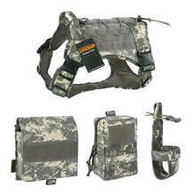 Load image into Gallery viewer, 500D 3 Pouch MOLLE Tactical Dog Harness - Supreme Paw Supply